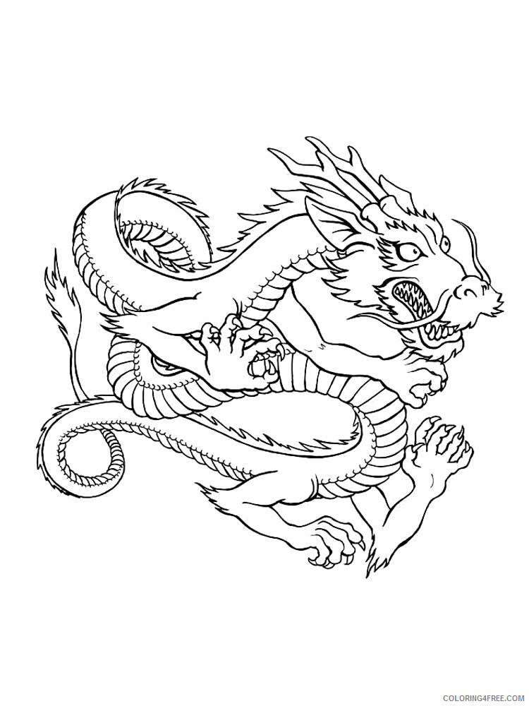 Chinese Dragon Coloring Pages Holiday Chinese Dragon 9 Printable 2021 0056 Coloring4free