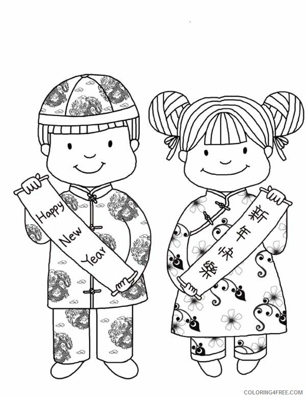 Chinese New Year Coloring Pages Holiday Children Chinese New Year Printable 2021 0059 Coloring4free