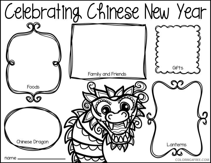 Chinese New Year Coloring Pages Holiday Chinese New Year Holiday Worksheet Printable 2021 0084 Coloring4free
