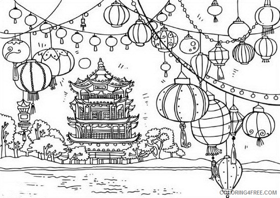 Chinese New Year Coloring Pages Holiday Lanterns Chinese New Year Printable 2021 0088 Coloring4free