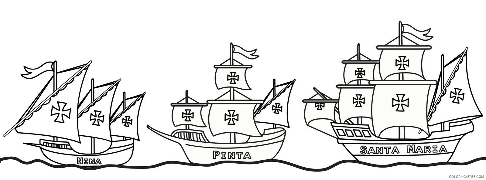 Columbus Day Coloring Pages Holiday Columbus Day 1 2 Printable 2021 0143 Coloring4free