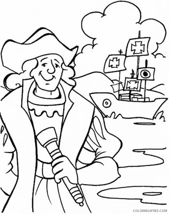 Columbus Day Coloring Pages Holiday Columbus Day Printable 2021 0142 Coloring4free
