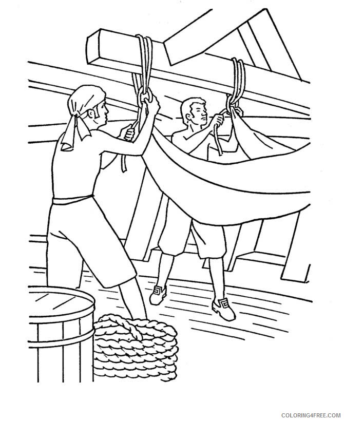 Columbus Day Coloring Pages Holiday Columbus Sailors On Columbus Day Printable 2021 0158 Coloring4free