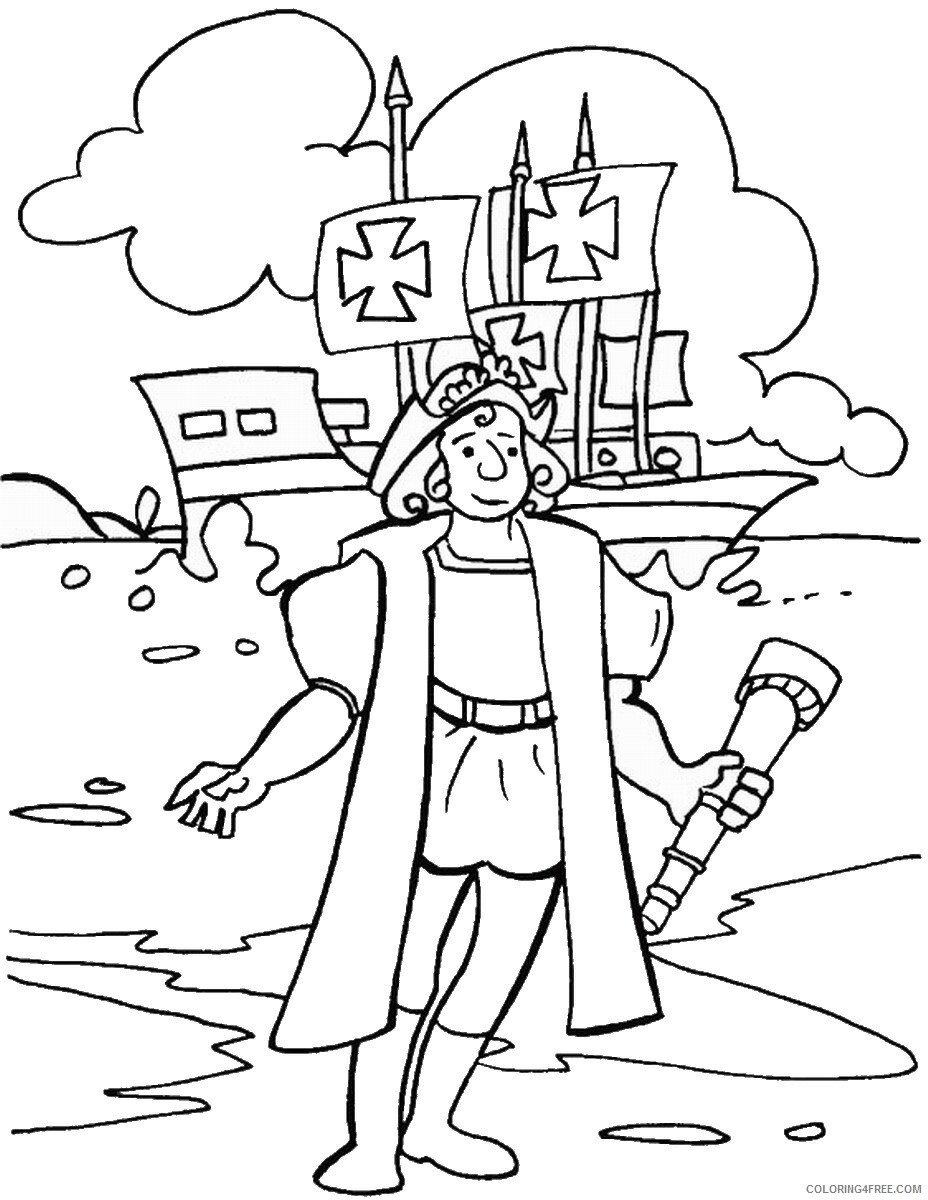 Columbus Day Coloring Pages Holiday colombus_day_coloring20 Printable 2021 0129 Coloring4free