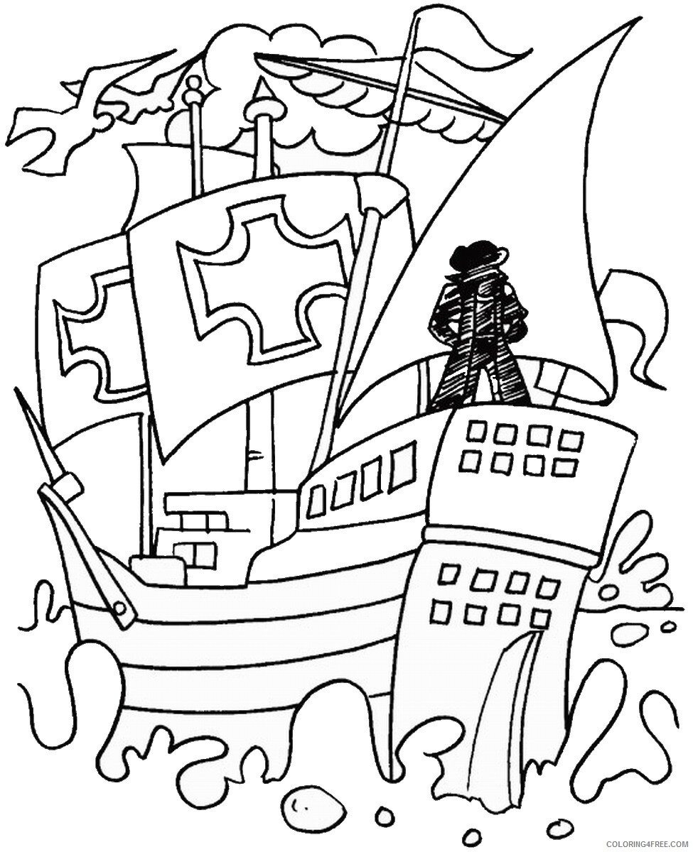 Columbus Day Coloring Pages Holiday colombus_day_coloring21 Printable 2021 0130 Coloring4free
