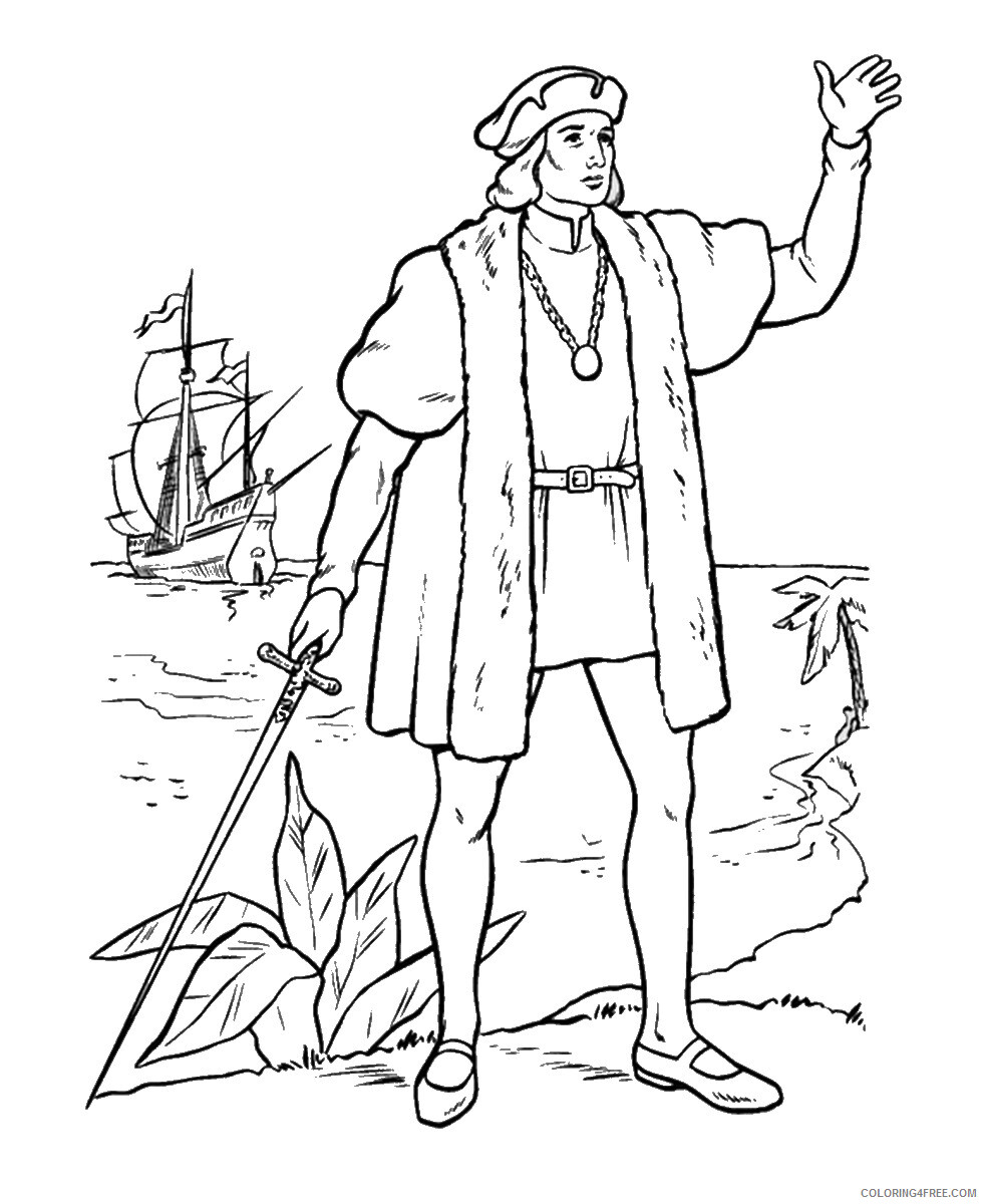 Columbus Day Coloring Pages Holiday colombus_day_coloring8 Printable 2021 0134 Coloring4free