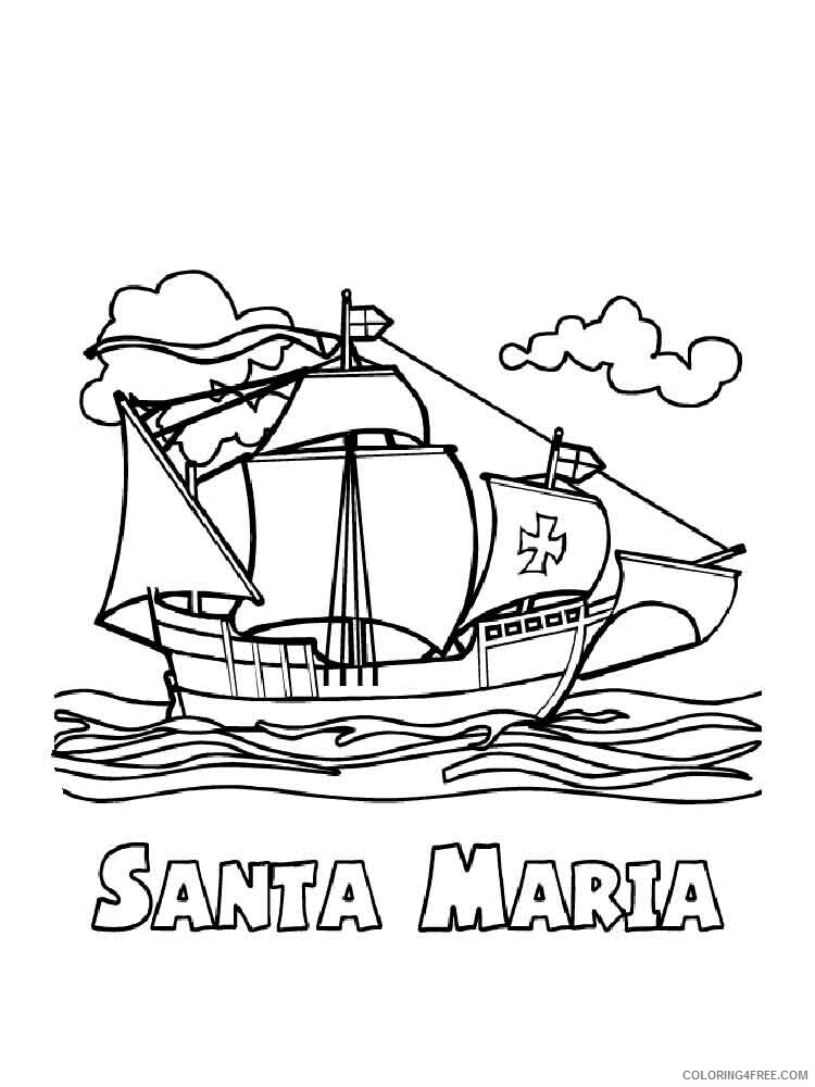 Columbus Day Coloring Pages Holiday columbus day 10 Printable 2021 0145 Coloring4free