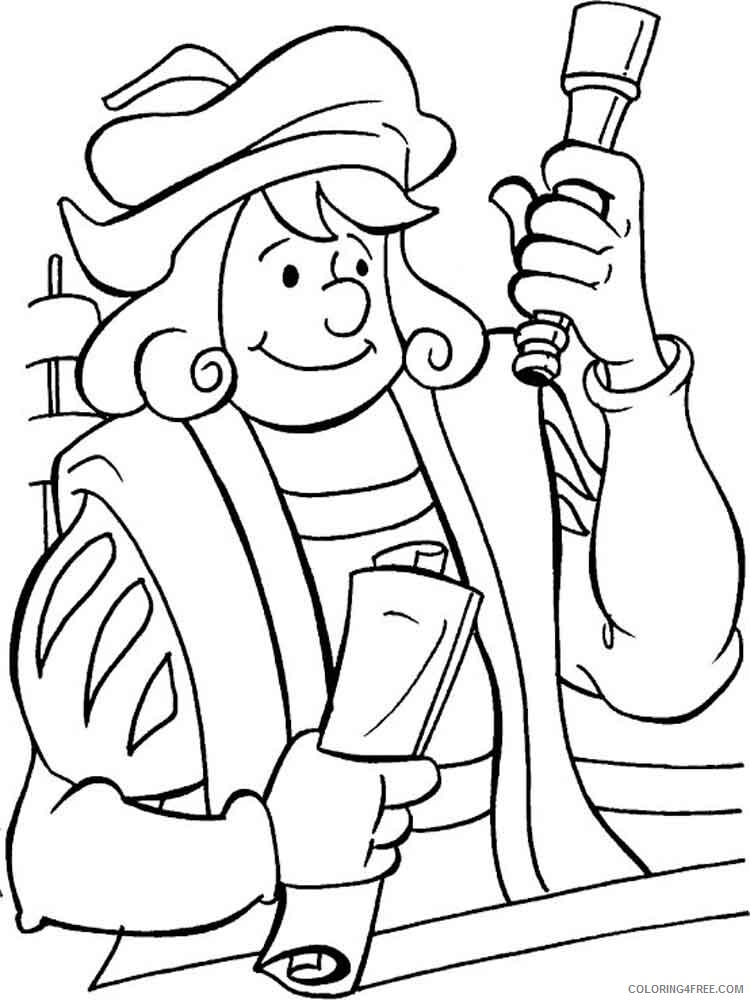 Columbus Day Coloring Pages Holiday columbus day 3 Printable 2021 0147 Coloring4free