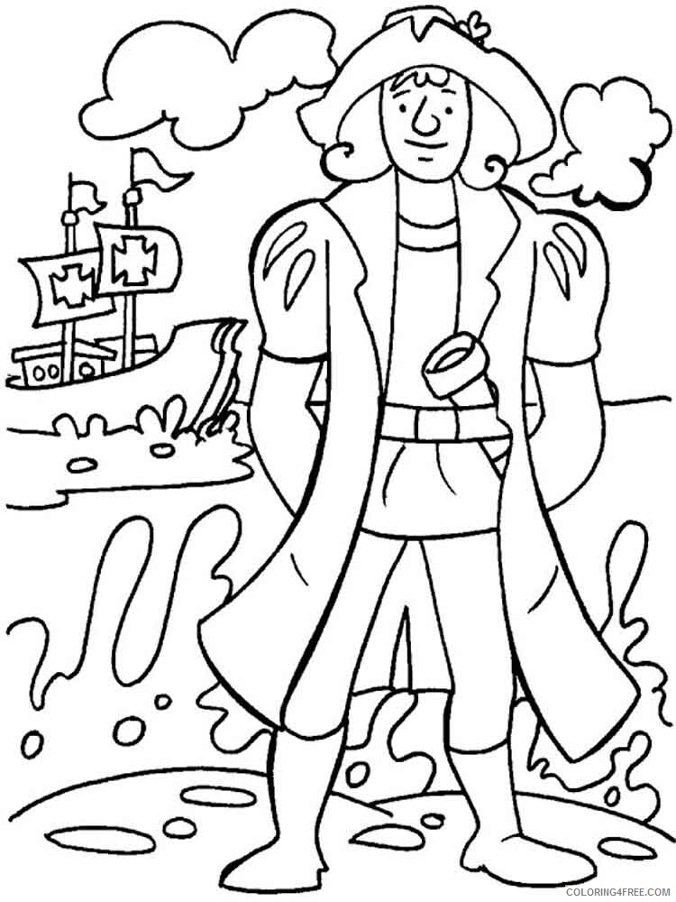 Columbus Day Coloring Pages Holiday columbus day 5 Printable 2021 0149 Coloring4free