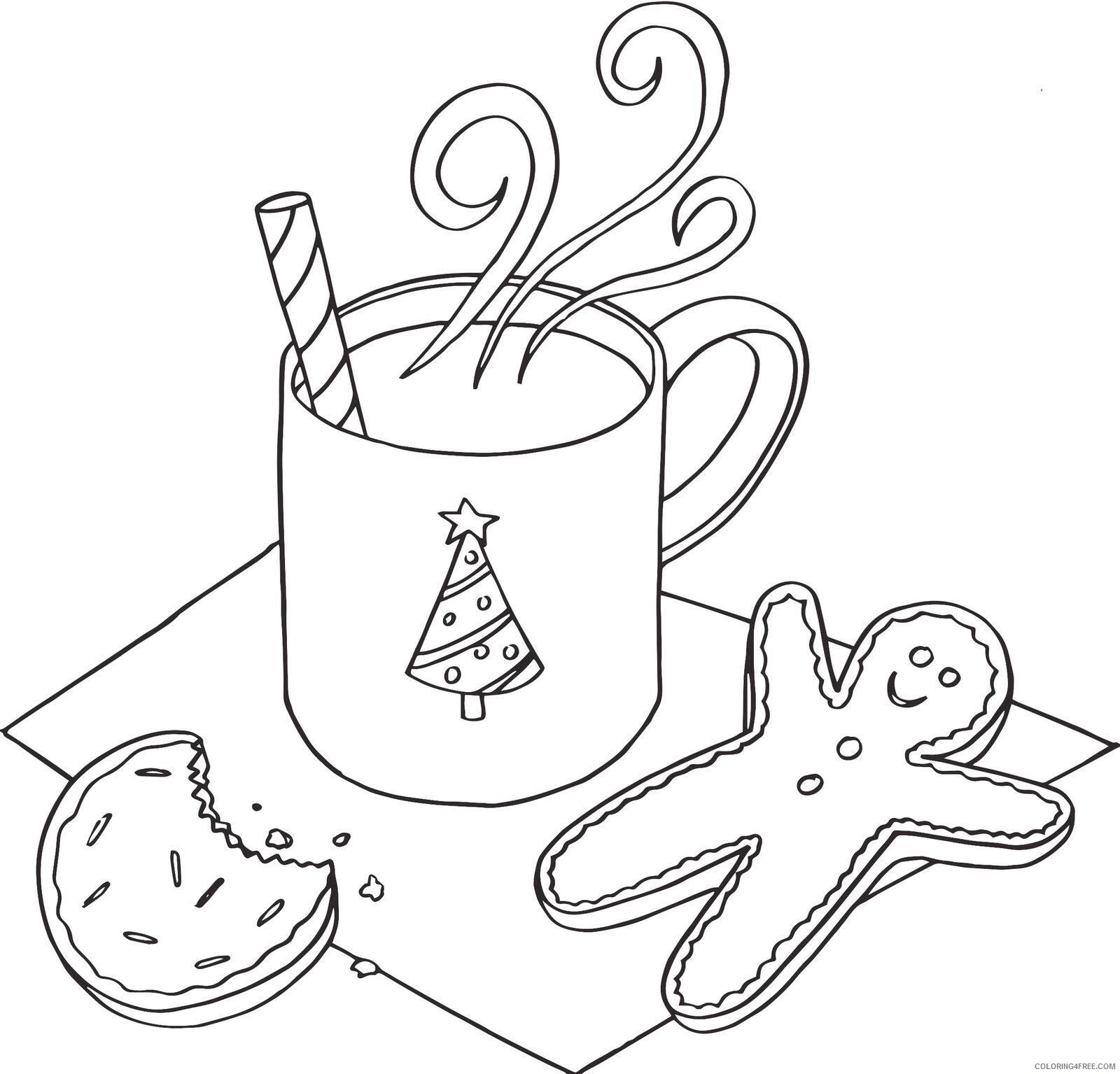 Cookie Coloring Pages for Kids Cookies December Printable 2021 094 Coloring4free