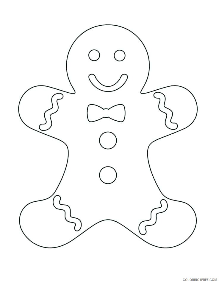 Cookie Coloring Pages For Kids Gingerbread Man Cookie Printable 2021 100 Coloring4free Coloring4free Com