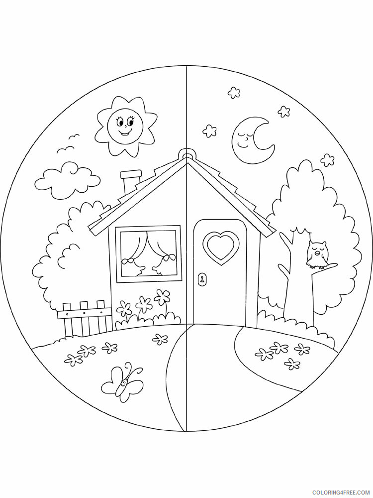 Day and Night Coloring Pages for Kids Day and night 1 Printable 2021 104 Coloring4free