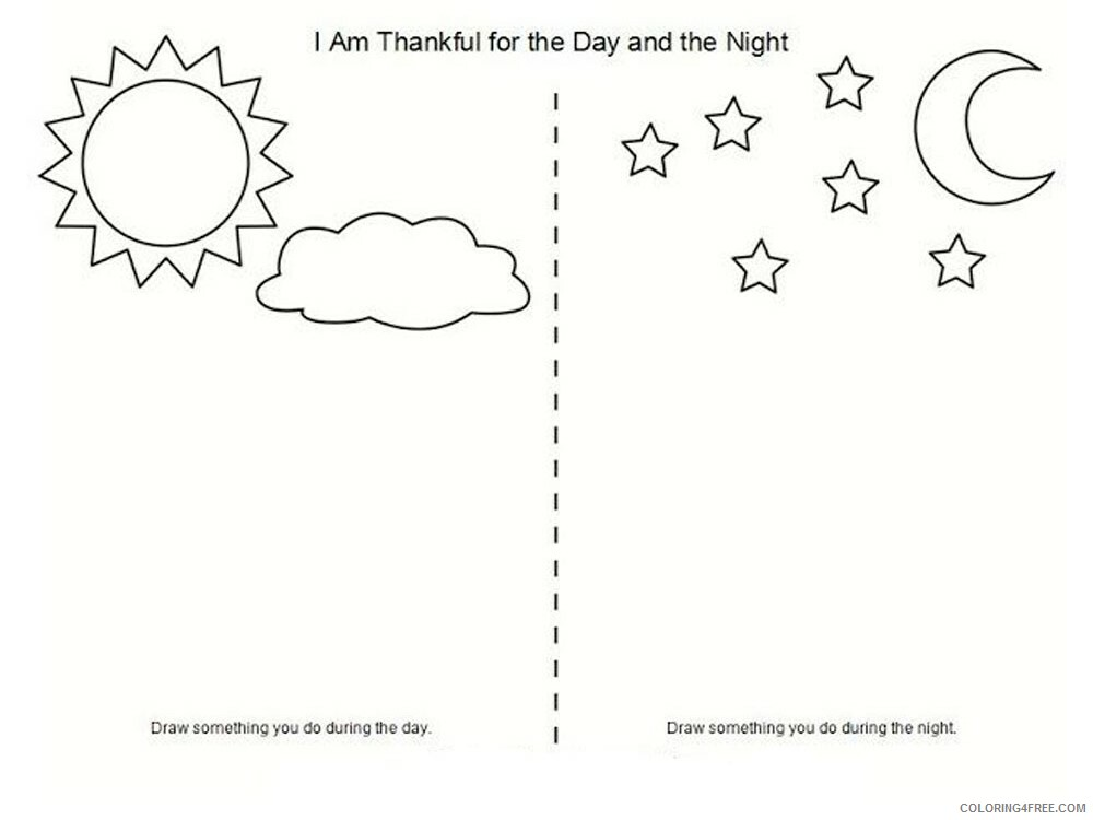 Day and Night Coloring Pages for Kids Day and night 2 Printable 2021 105 Coloring4free