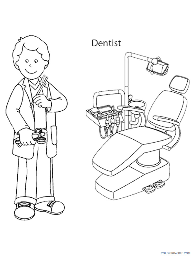Dentist Coloring Pages for Kids Dentist 1 Printable 2021 108 Coloring4free