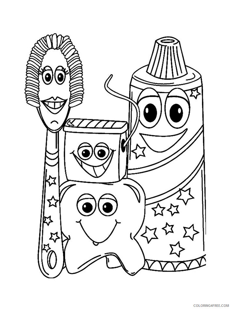Dentist Coloring Pages for Kids Dentist 14 Printable 2021 111 Coloring4free