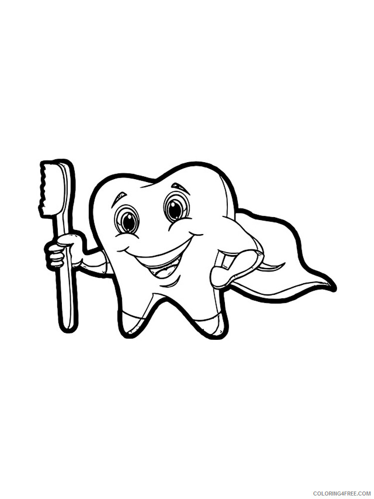 Dentist Coloring Pages for Kids Dentist 16 Printable 2021 112 Coloring4free