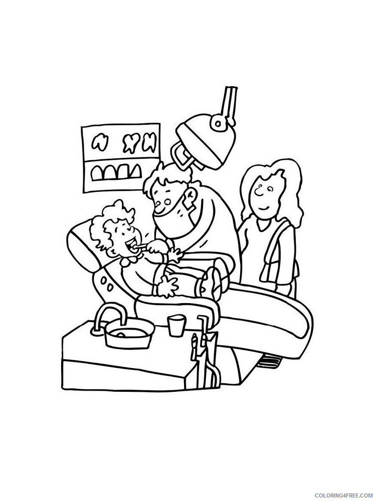 Dentist Coloring Pages for Kids Dentist 3 Printable 2021 114 Coloring4free