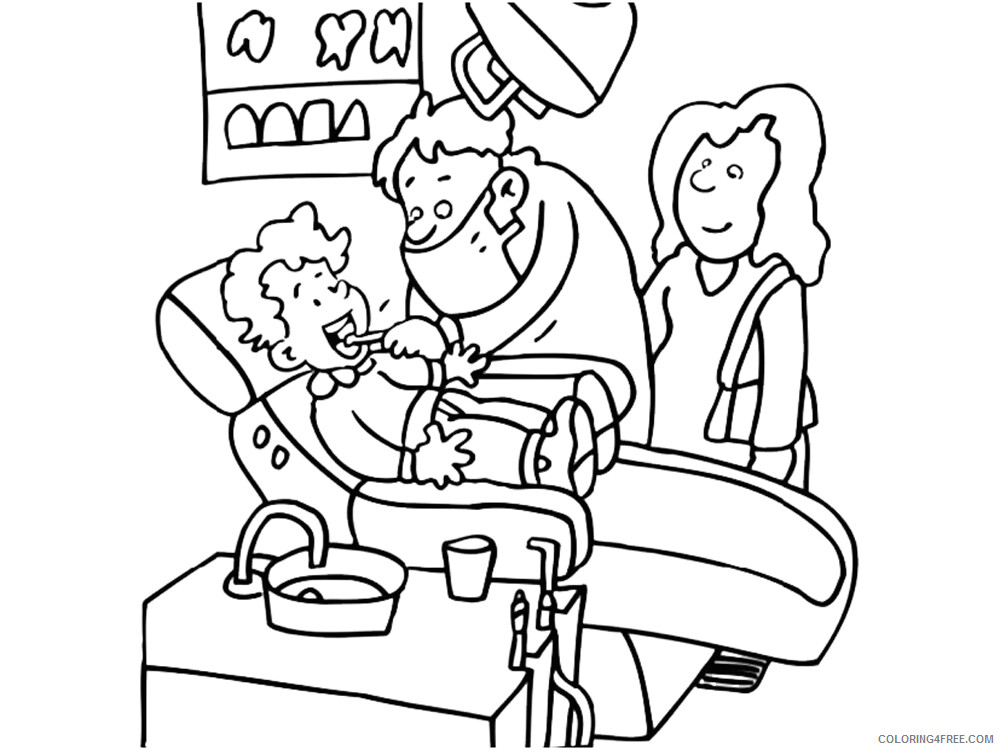 Dentist Coloring Pages for Kids Dentist 9 Printable 2021 118 Coloring4free