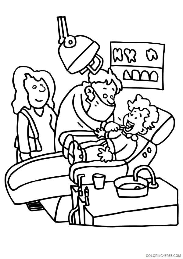 Dentist Coloring Pages for Kids Visiting Dentist for Teeth Health 2021 119 Coloring4free
