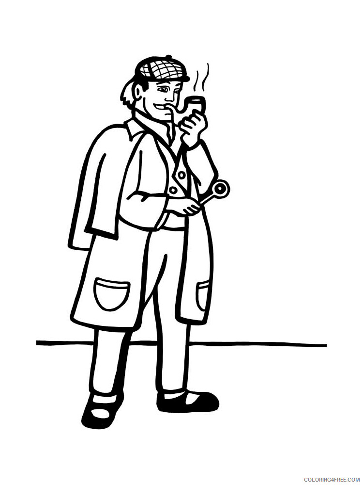 Detective Coloring Pages for Kids Detective 12 Printable 2021 126 Coloring4free