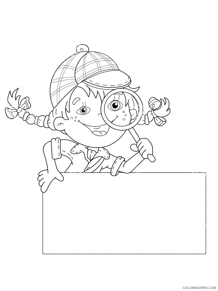 Detective Coloring Pages for Kids Detective 5 Printable 2021 131 Coloring4free