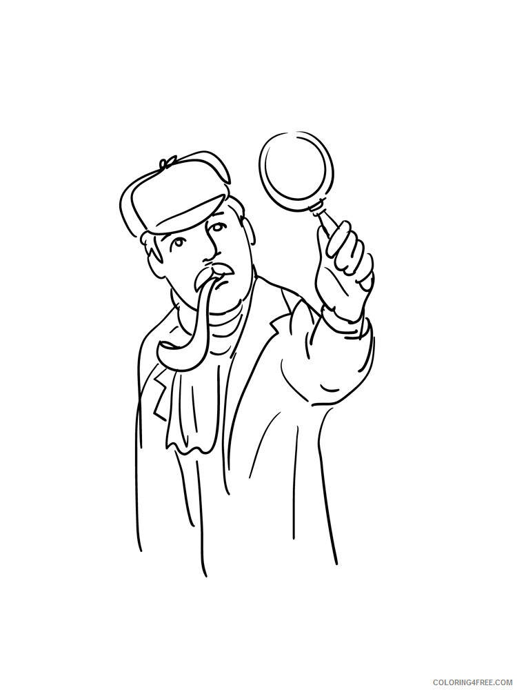 Detective Coloring Pages for Kids Detective 6 Printable 2021 132 Coloring4free