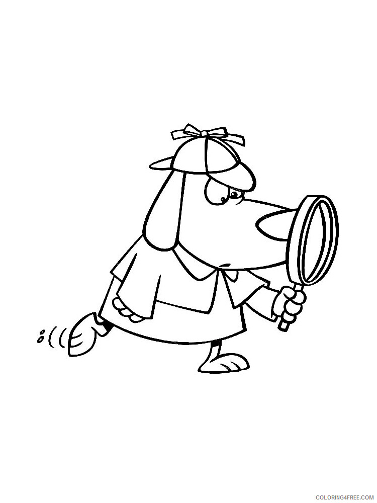 Detective Coloring Pages for Kids Detective 7 Printable 2021 133 Coloring4free