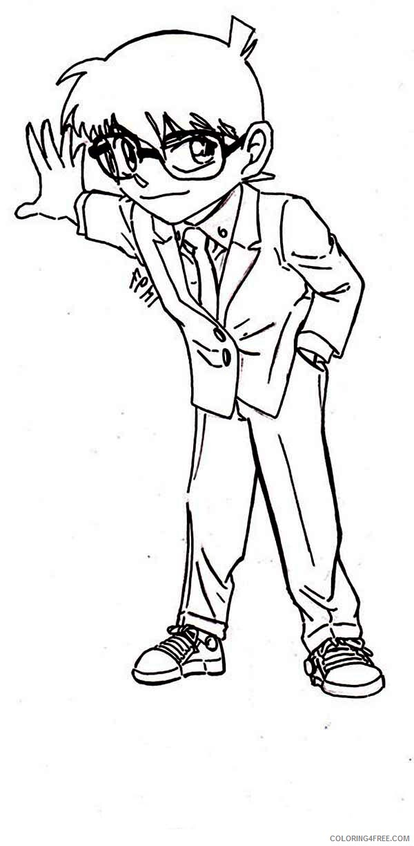 Detective Coloring Pages for Kids Detective Conan Try to Find a Clue 2021 138 Coloring4free