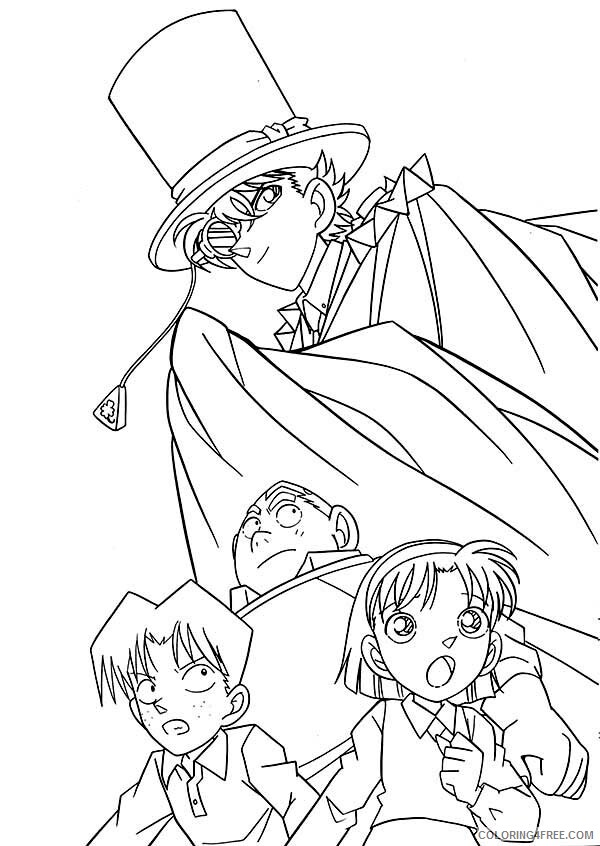 Detective Coloring Pages for Kids The Adventure of Detective Conan Print 2021 Coloring4free