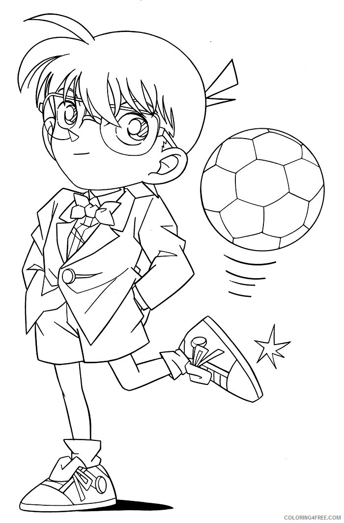 Detective Coloring Pages for Kids detective_conan_book_Printable 2021 121 Coloring4free