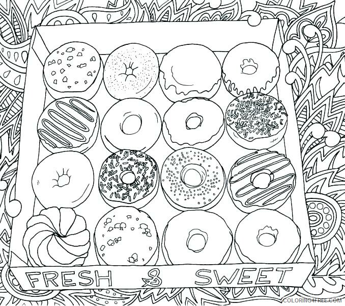 Donut Coloring Pages For Kids Box Of Donuts Printable 2021 142 Coloring4free Coloring4free Com