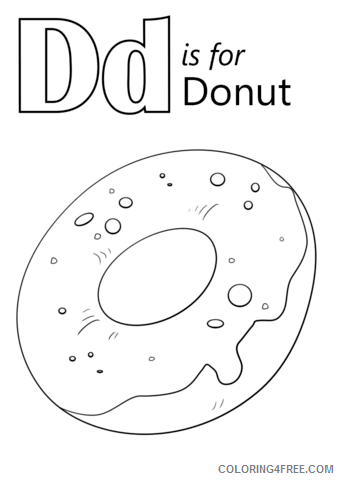 Donut Coloring Pages for Kids D is for Donut Printable 2021 143 Coloring4free