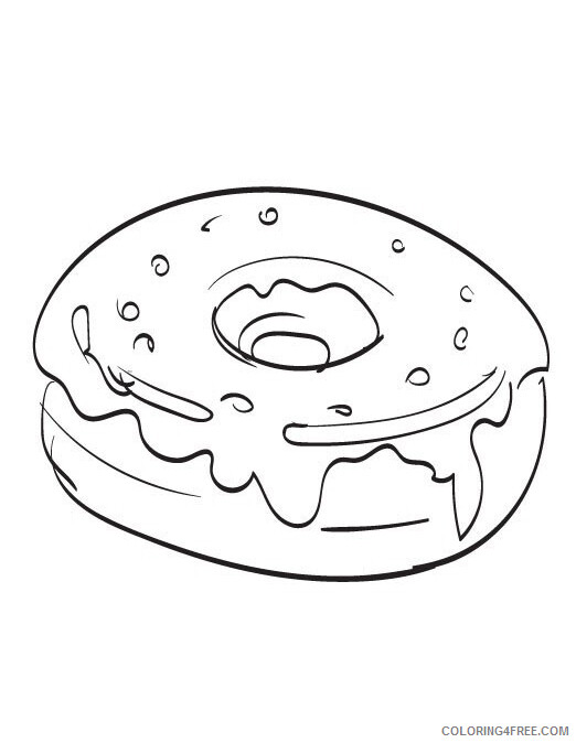Donut Coloring Pages for Kids Donut Printable 2021 145 Coloring4free