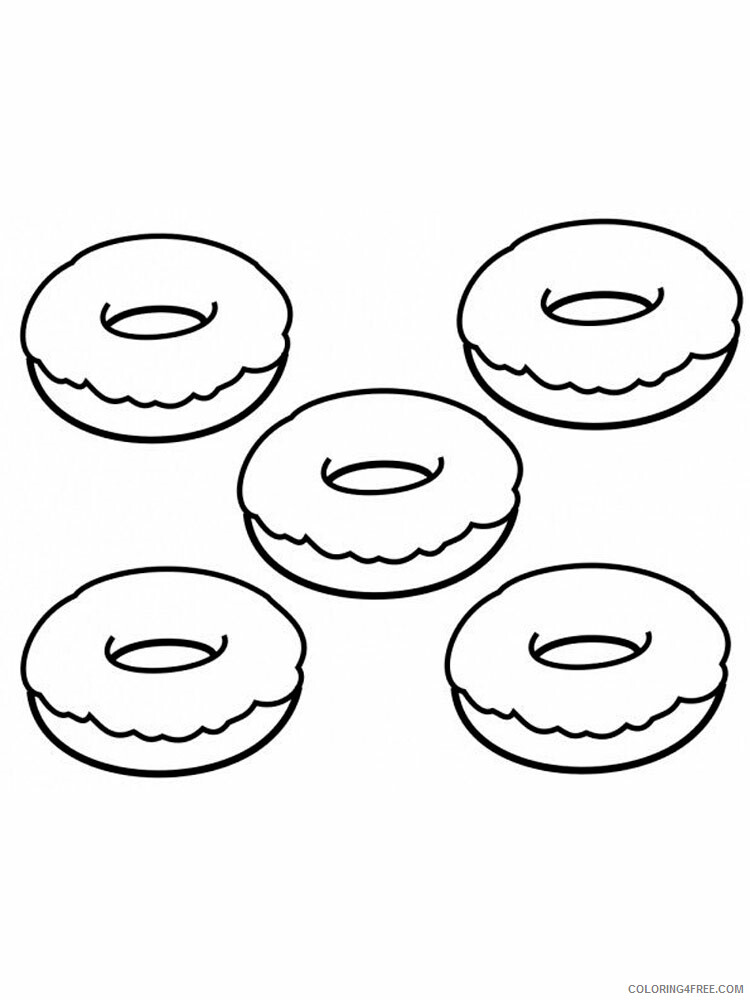 Donut Coloring Pages for Kids donut 1 Printable 2021 146 Coloring4free