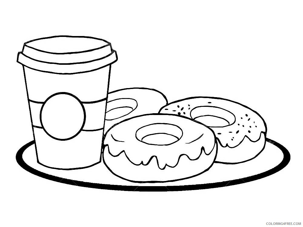 Donut Coloring Pages for Kids donut 10 Printable 2021 147 Coloring4free