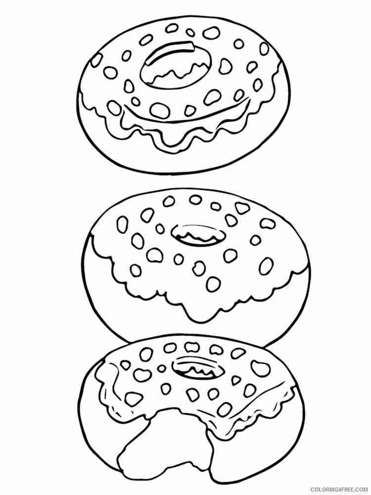 Donut Coloring Pages for Kids donut 13 Printable 2021 150 Coloring4free
