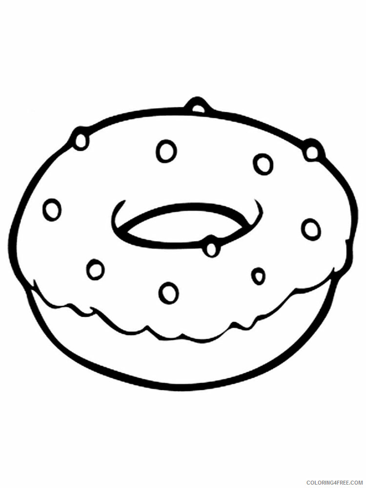 Donut Coloring Pages for Kids donut 3 Printable 2021 152 Coloring4free