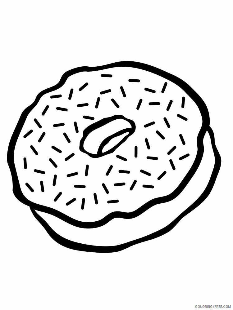 Donut Coloring Pages for Kids donut 8 Printable 2021 153 Coloring4free