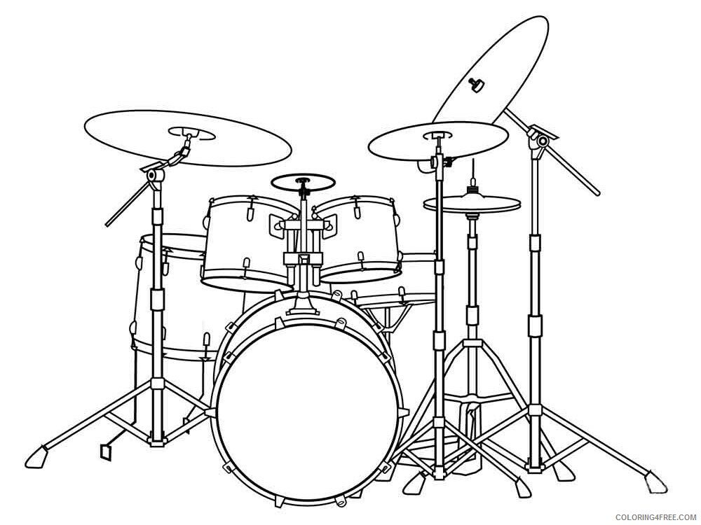 Drum Coloring Pages for Kids drum 11 Printable 2021 162 Coloring4free
