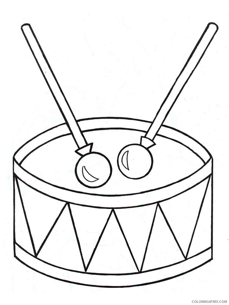 Drum Coloring Pages for Kids drum 13 Printable 2021 163 Coloring4free