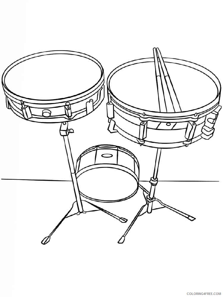 Drum Coloring Pages for Kids drum 14 Printable 2021 164 Coloring4free