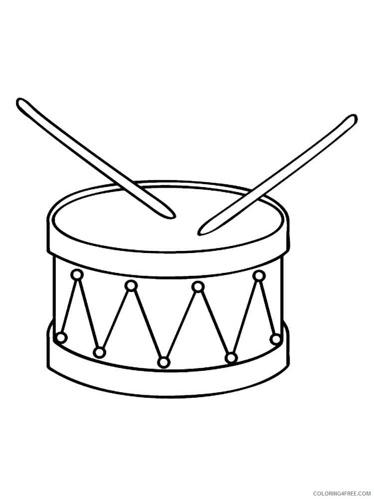 Drum Coloring Pages for Kids drum 15 Printable 2021 165 Coloring4free