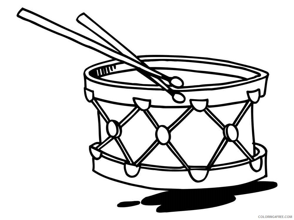 Drum Coloring Pages for Kids drum 16 Printable 2021 166 Coloring4free