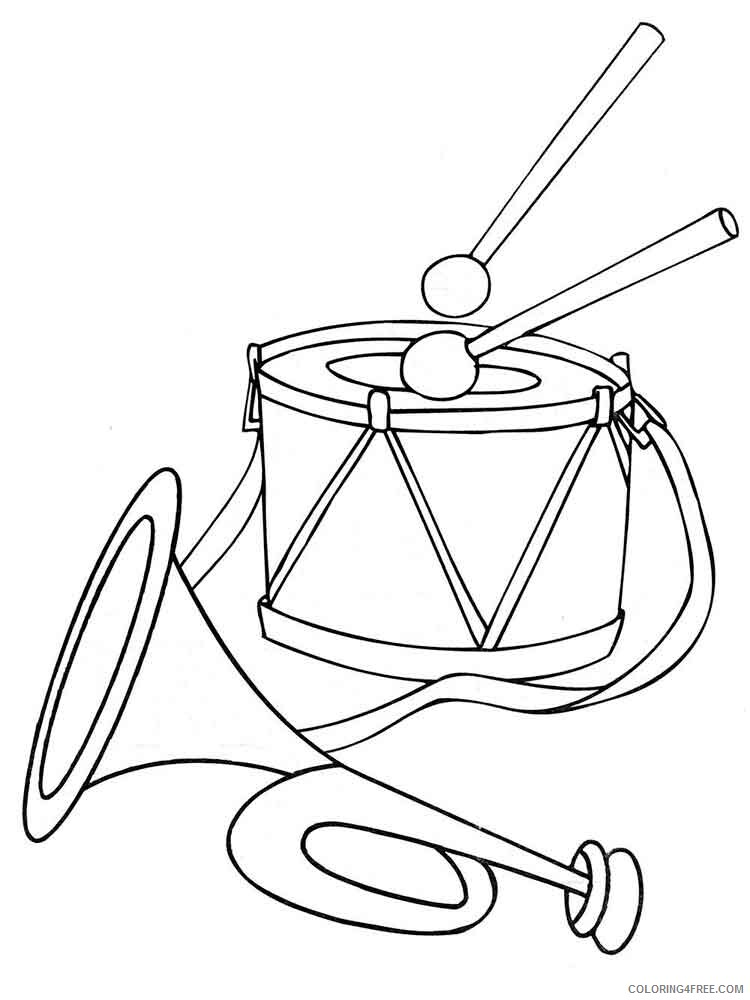 Drum Coloring Pages for Kids drum 2 Printable 2021 167 Coloring4free