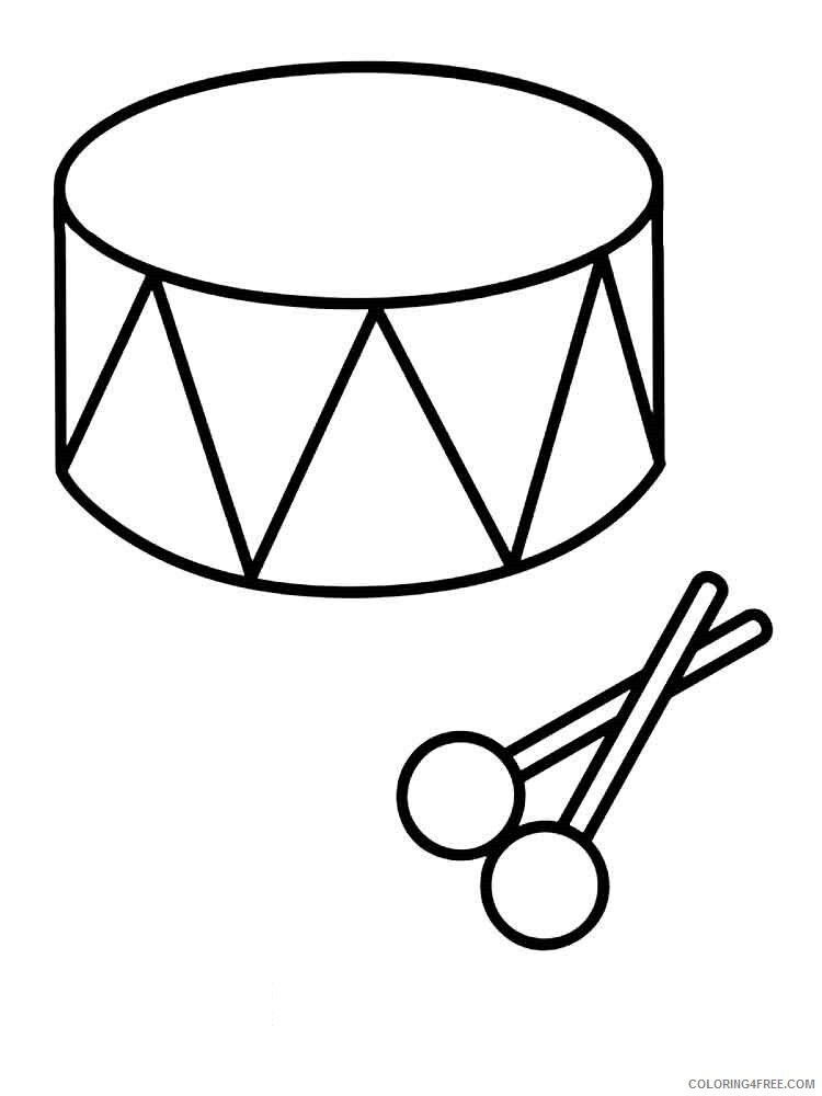 Drum Coloring Pages for Kids drum 4 Printable 2021 169 Coloring4free