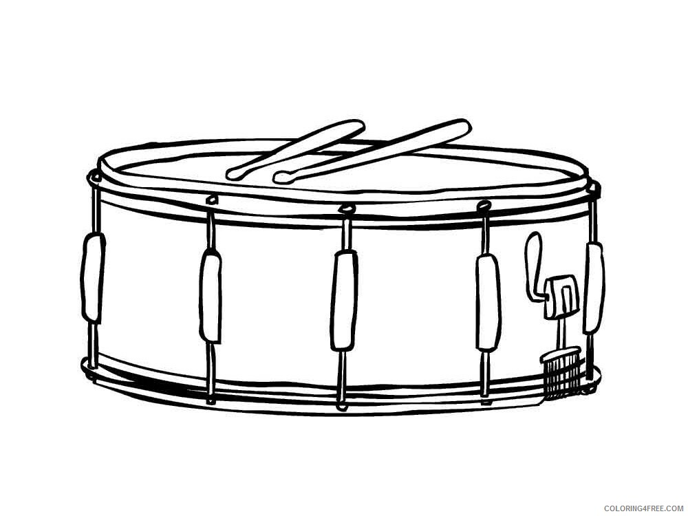 Drum Coloring Pages for Kids drum 5 Printable 2021 170 Coloring4free