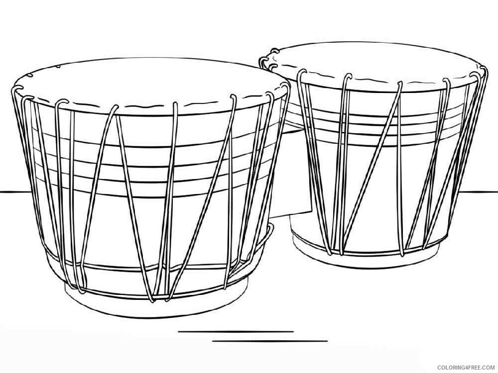 Drum Coloring Pages for Kids drum 7 Printable 2021 171 Coloring4free