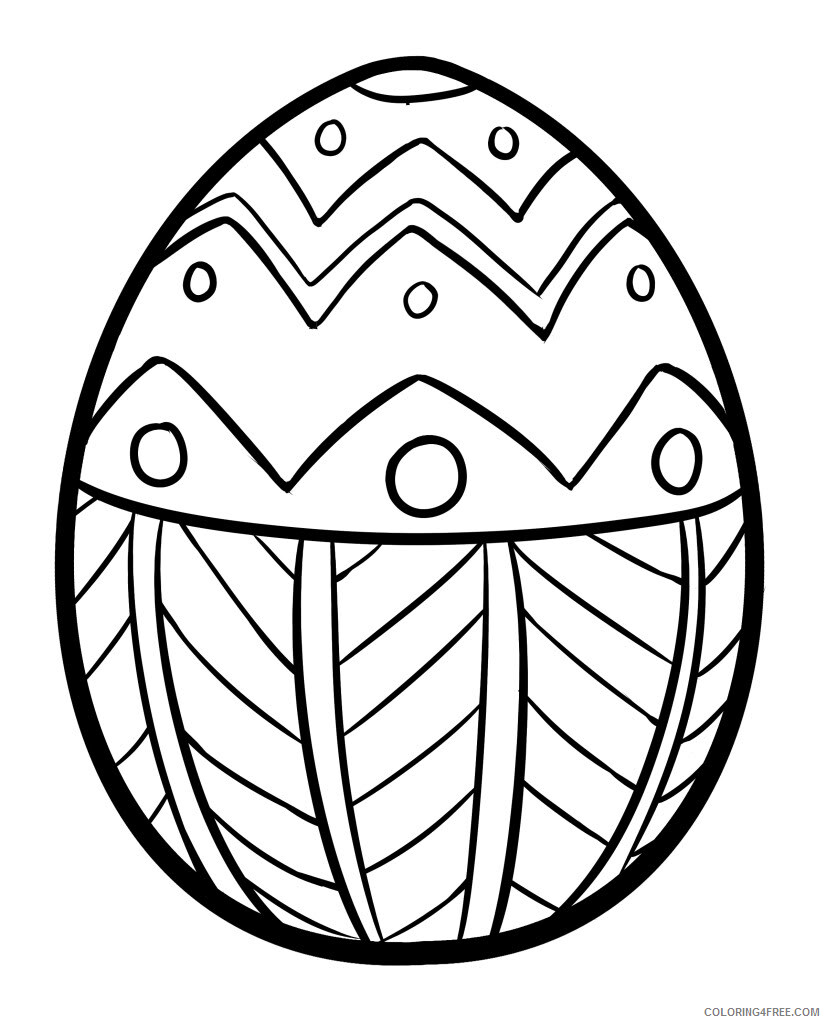 Easter Egg Coloring Pages Holiday Easter Egg Easter Printable 18 ...