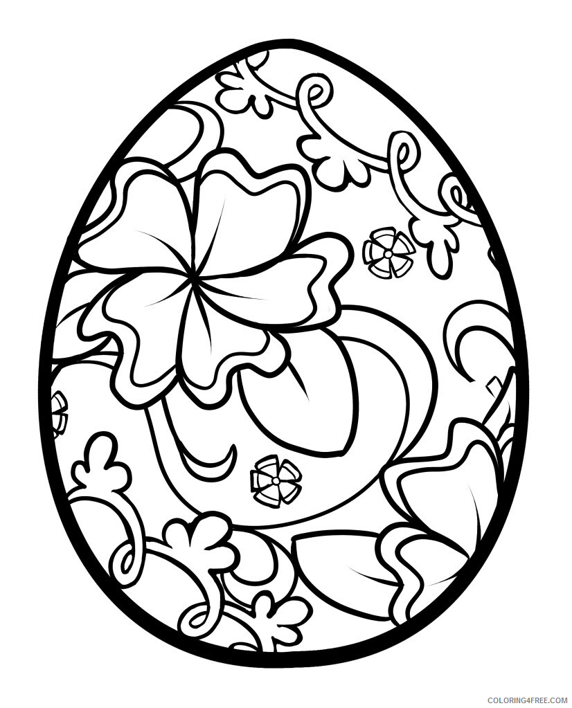 Easter Egg Coloring Pages Holiday Easter Egg Pictures to and Print ...