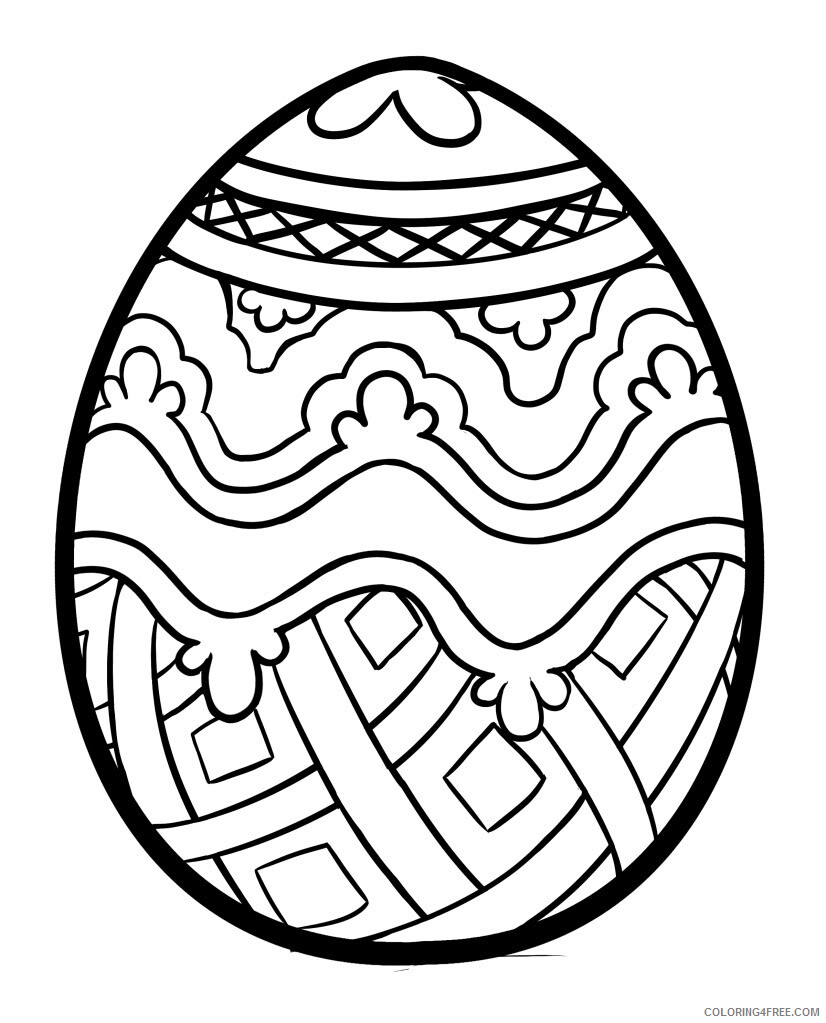 Easter Egg Coloring Pages Holiday Free Easter Egg Printable 18 ...
